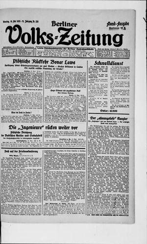 Berliner Volkszeitung vom 15.05.1923