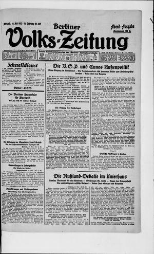 Berliner Volkszeitung vom 16.05.1923