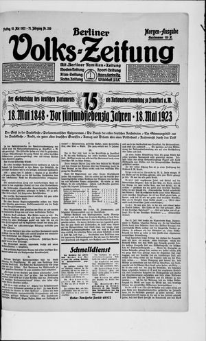 Berliner Volkszeitung vom 18.05.1923