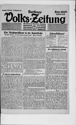 Berliner Volkszeitung vom 19.05.1923