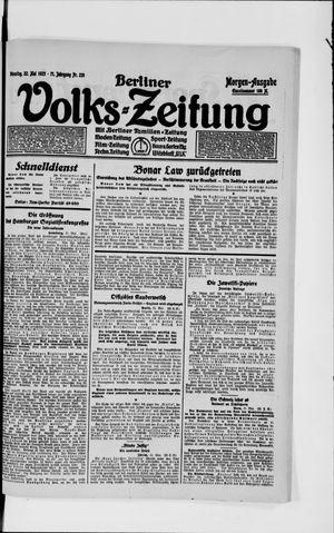Berliner Volkszeitung vom 22.05.1923