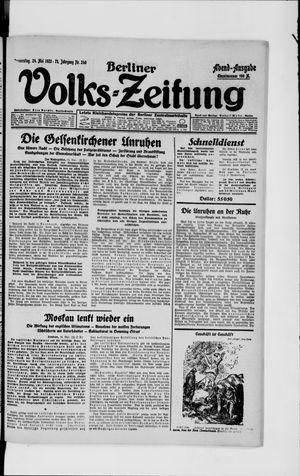 Berliner Volkszeitung vom 24.05.1923