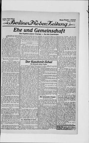 Berliner Volkszeitung vom 27.05.1923