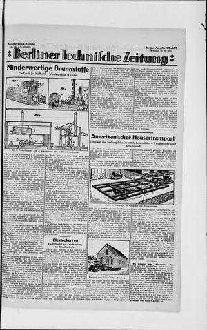Berliner Volkszeitung on May 30, 1923