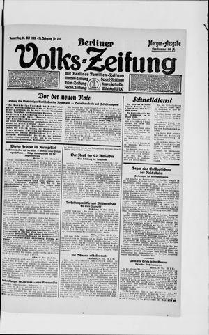 Berliner Volkszeitung vom 31.05.1923