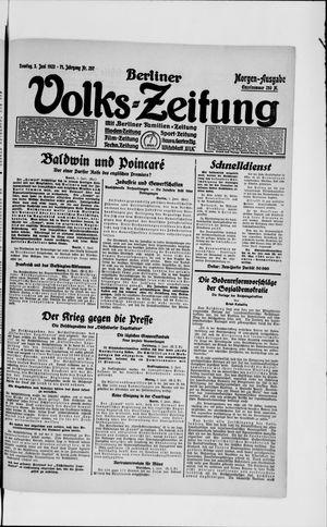 Berliner Volkszeitung vom 03.06.1923
