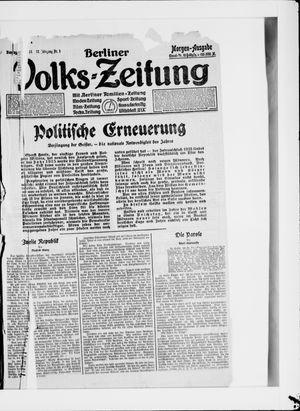 Berliner Volkszeitung vom 01.01.1924
