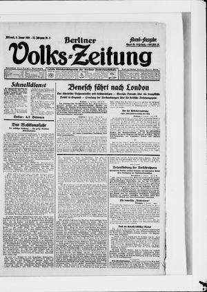 Berliner Volkszeitung vom 02.01.1924