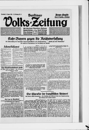 Berliner Volkszeitung vom 05.01.1924