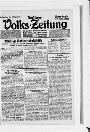 Berliner Volkszeitung on Jan 8, 1924