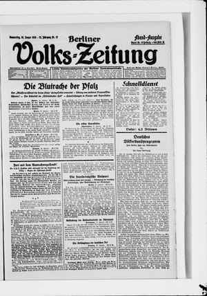 Berliner Volkszeitung vom 10.01.1924