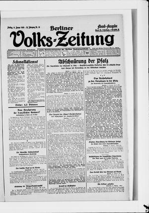 Berliner Volkszeitung vom 11.01.1924