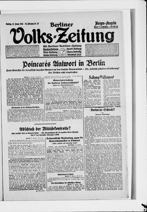 Berliner Volkszeitung vom 13.01.1924