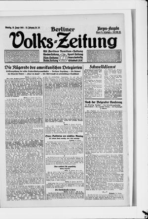 Berliner Volkszeitung vom 15.01.1924
