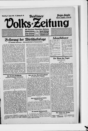 Berliner Volkszeitung vom 17.01.1924
