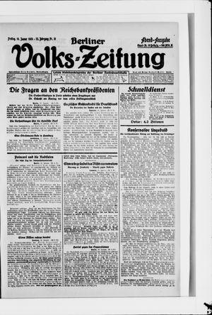 Berliner Volkszeitung vom 18.01.1924