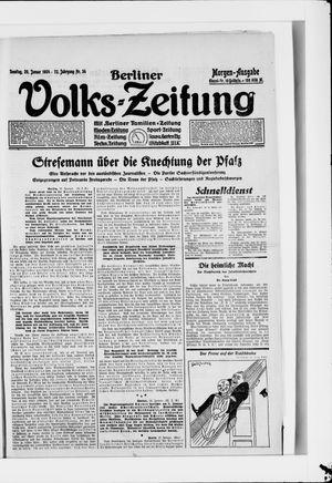 Berliner Volkszeitung vom 20.01.1924