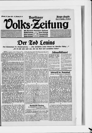 Berliner Volkszeitung vom 23.01.1924