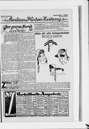 Berliner Volkszeitung vom 27.01.1924
