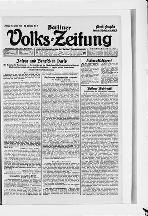 Berliner Volkszeitung vom 28.01.1924