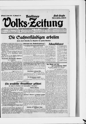 Berliner Volkszeitung vom 30.01.1924