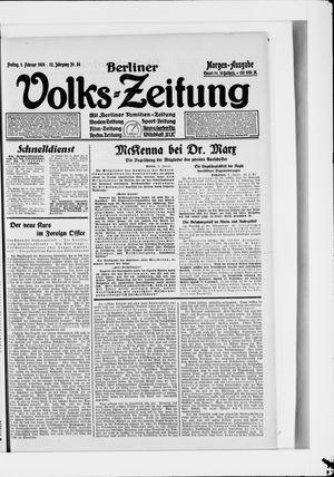 Berliner Volkszeitung vom 01.02.1924