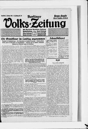 Berliner Volkszeitung vom 02.02.1924