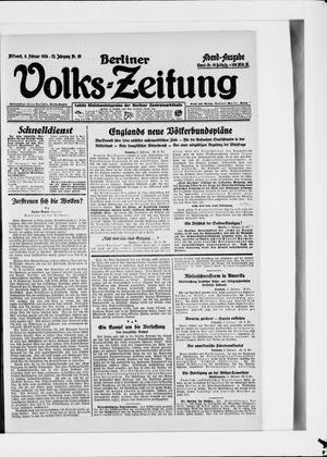 Berliner Volkszeitung vom 06.02.1924