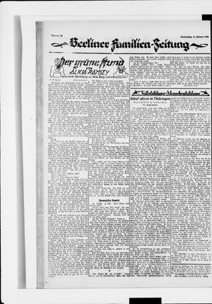 Berliner Volkszeitung vom 14.02.1924