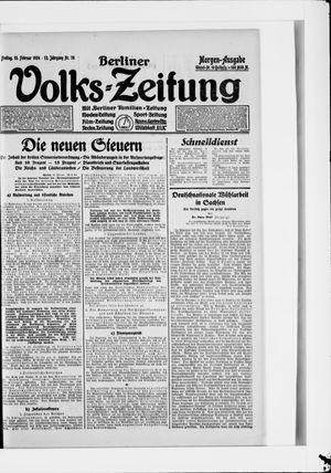 Berliner Volkszeitung vom 15.02.1924