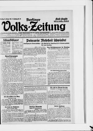Berliner Volkszeitung vom 19.02.1924