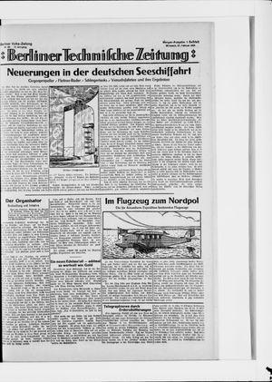 Berliner Volkszeitung vom 20.02.1924