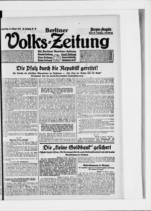 Berliner Volkszeitung vom 21.02.1924