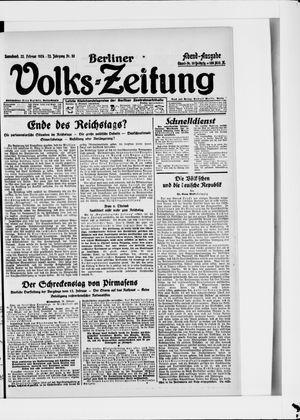 Berliner Volkszeitung vom 23.02.1924