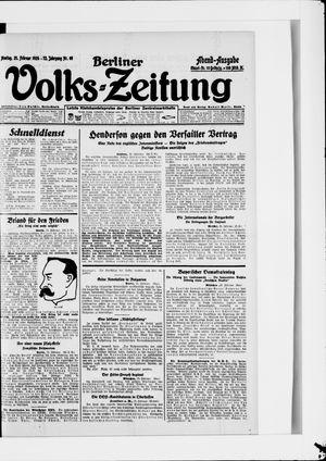 Berliner Volkszeitung on Feb 25, 1924