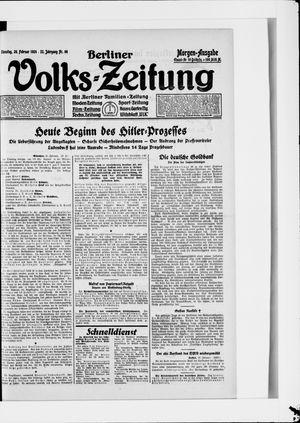 Berliner Volkszeitung vom 26.02.1924