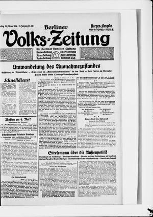 Berliner Volkszeitung vom 29.02.1924