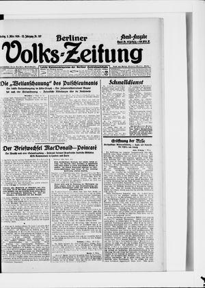 Berliner Volkszeitung vom 03.03.1924