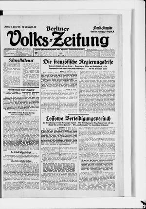 Berliner Volkszeitung vom 10.03.1924