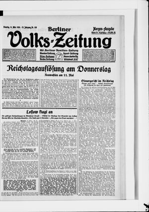 Berliner Volkszeitung vom 11.03.1924