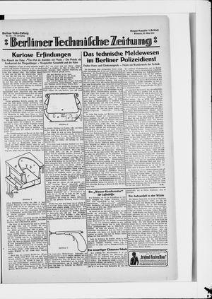 Berliner Volkszeitung vom 26.03.1924