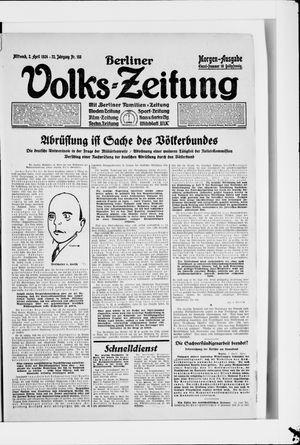 Berliner Volkszeitung vom 02.04.1924