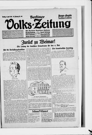 Berliner Volkszeitung vom 06.04.1924