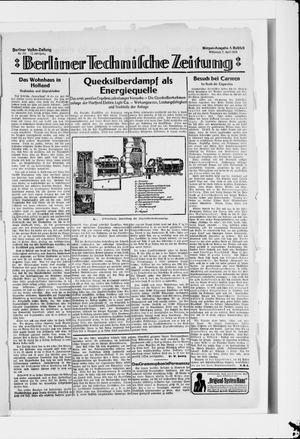 Berliner Volkszeitung vom 09.04.1924