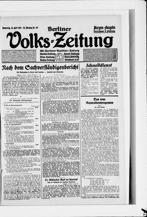 Berliner Volkszeitung vom 10.04.1924