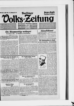 Berliner Volkszeitung vom 16.04.1924