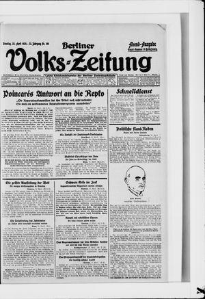 Berliner Volkszeitung vom 22.04.1924