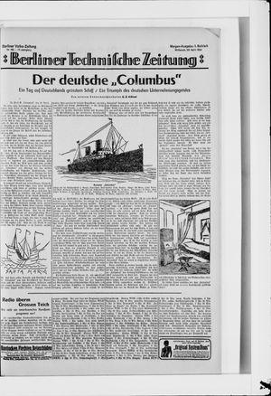 Berliner Volkszeitung vom 23.04.1924