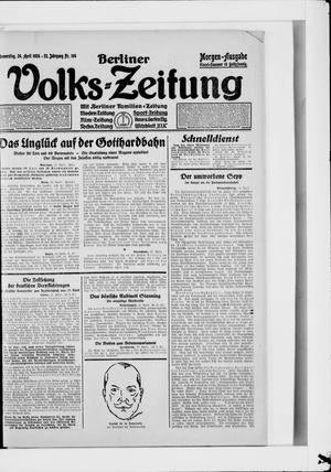 Berliner Volkszeitung vom 24.04.1924
