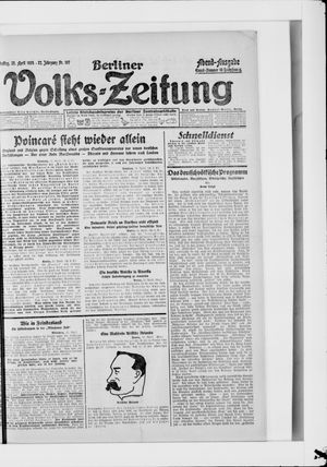 Berliner Volkszeitung vom 25.04.1924